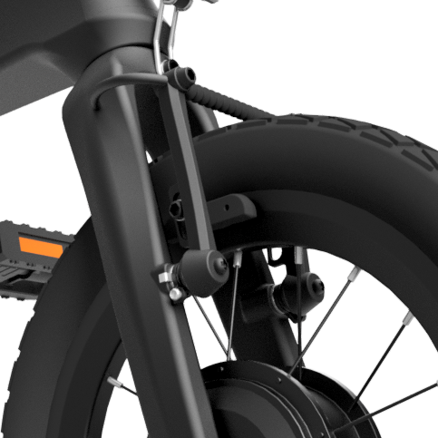 eTura Lightest Folding eBike Brakes